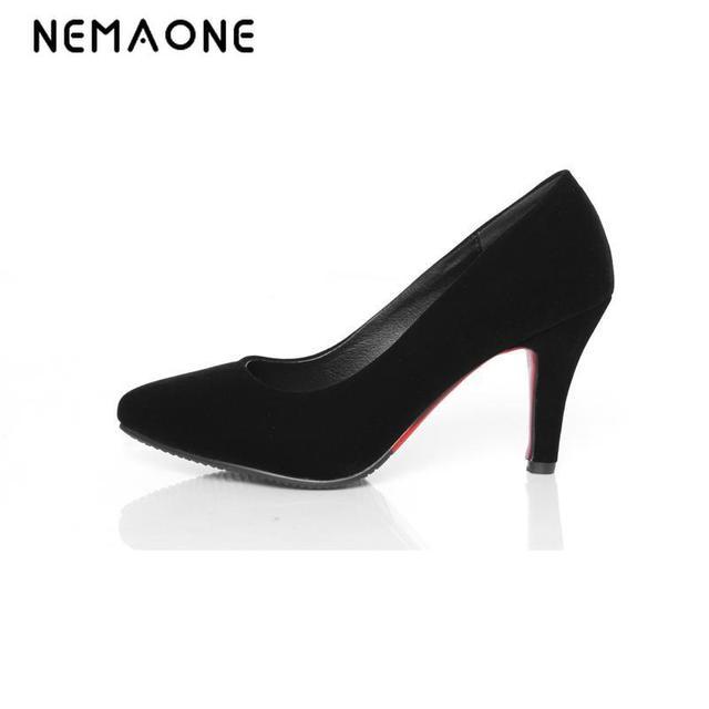 aa6269dd1 Nemaone Tacones altos zapatos mujer Tacon 7 cm Tacones 2016 nueva primavera  calzado para mujer desnuda