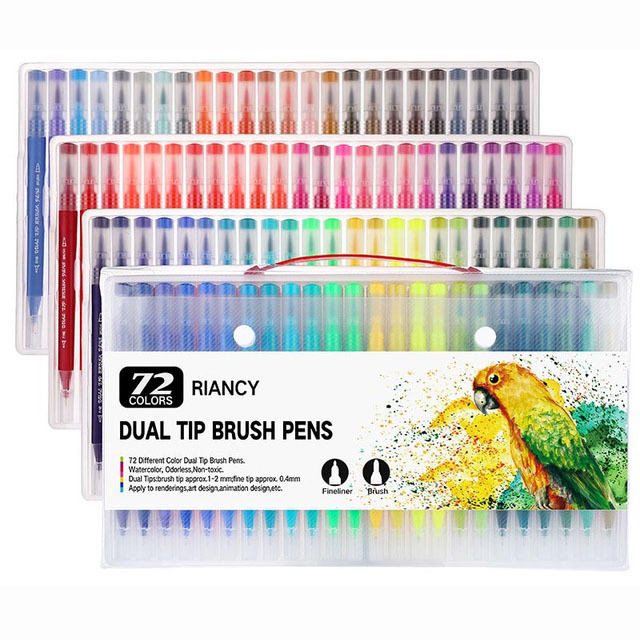 12-18-24-36-48-72-100PCS-Colors-FineLiner-Drawing-Painting-Watercolor-Art-Marker-Pens-Dual.jpg_640x640 (2)