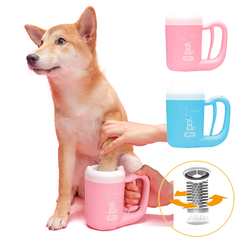 Paw Cup For Small Medium Dogs Soft Silicone Pet Feet Washer Portable Pet Dog Dirty Paw Cleaning Cup Muddy Dog Cat Grooming Собака