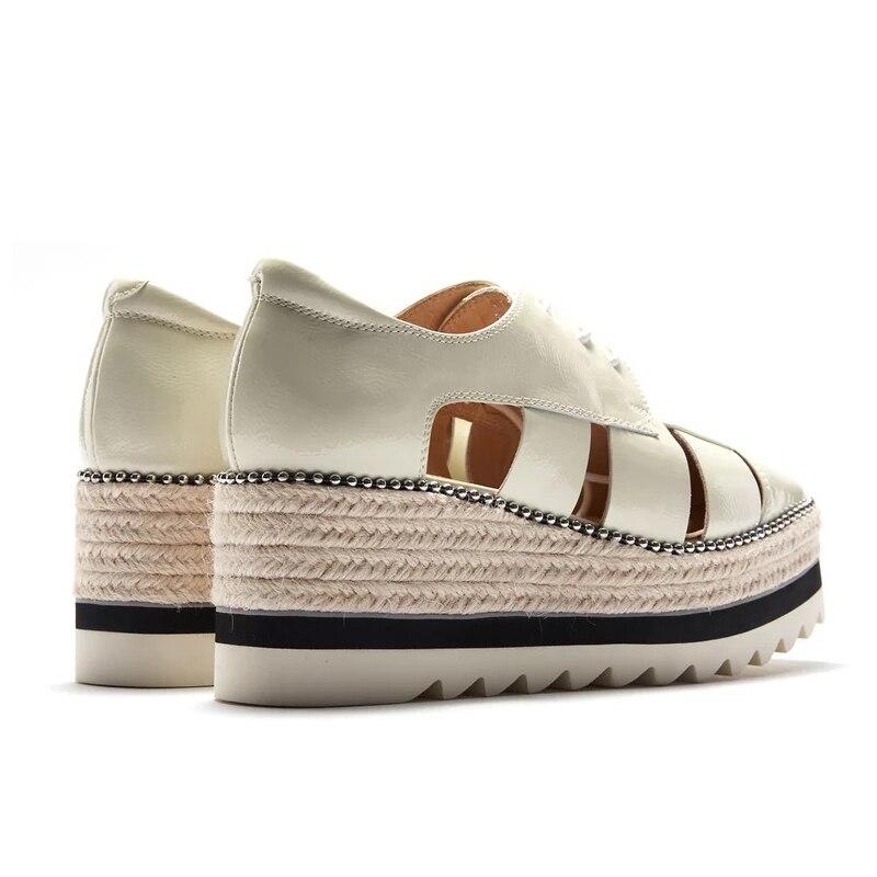 Décontractées Perlé Chaussures Épais Cuir En Femmes Fond Creux Respirant Blanc Rue Mocasines Pour Véritable Ugi Haute Dame Mujer gqUE5wxO5