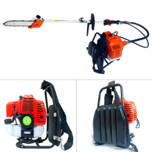 Backpack 43cc Long Reach Pole Chainsaw, Petrol Chain Saw Brush Tree Cutter Pruner