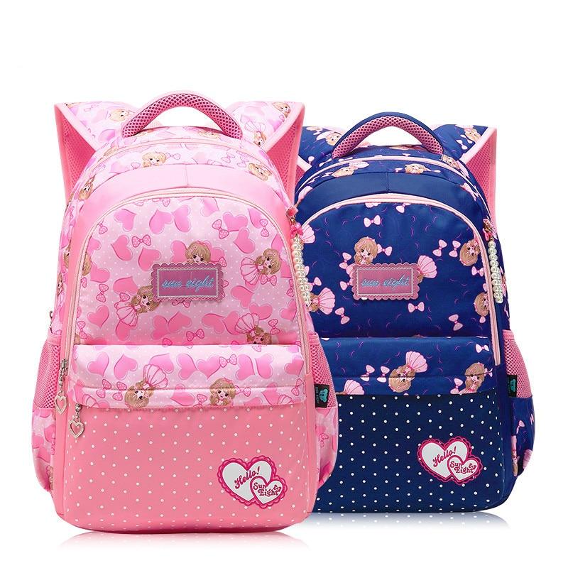 5ccaeccf8a1a Мода волновой точки школьный 1-3-6 Девушка Рюкзак princess сумка милые