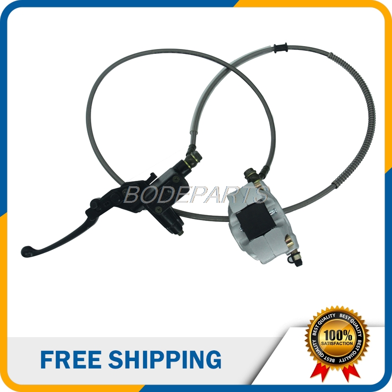 Motorcycle Parts Front Hydraulic Brake Assembly With Brake Pads Hydraulic Cable For Dirt Pit Bike ATV Free Shipping