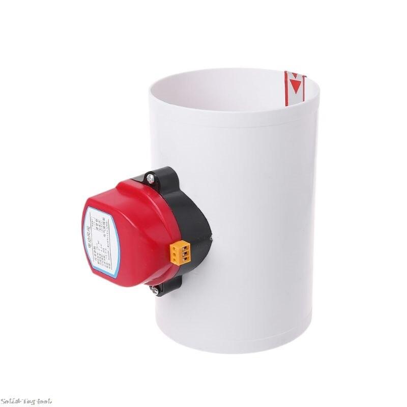 Image 3 - 220V Plastic Electric Damper Check Valve 110mm Air Volume Control Valves For Ventilation PipeValve   -