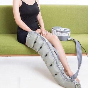 Image 4 - 6 cavidade elétrica compressão de ar perna pé massageador vibração infravermelho terapia braço cintura pneumática envoltórios de ar relaxar alívio da dor
