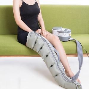 Image 4 - 6 חלל חשמלי אוויר דחיסת רגל רגל לעיסוי רטט אינפרא אדום טיפול זרוע מותניים פנאומטי אוויר כורכת להירגע כאב הקלה
