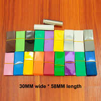 100pcs/lot Lithium Battery Heat Shrinkable Sleeve Insulated Cover Skin 18500 Special Pvc Shrink Film 30mm*58mm