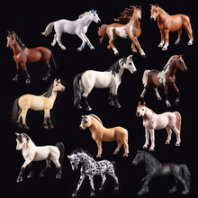 2019 NEW All kinds of Plastic Toy Simulated Horse Model Solid Emulation Action Anime Figure Kids Toys for Boys Children.