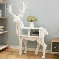 The PVC Plastic Board Porch Decoration Elk Animal Living Room Window Rack Set Creative Home Furnishing