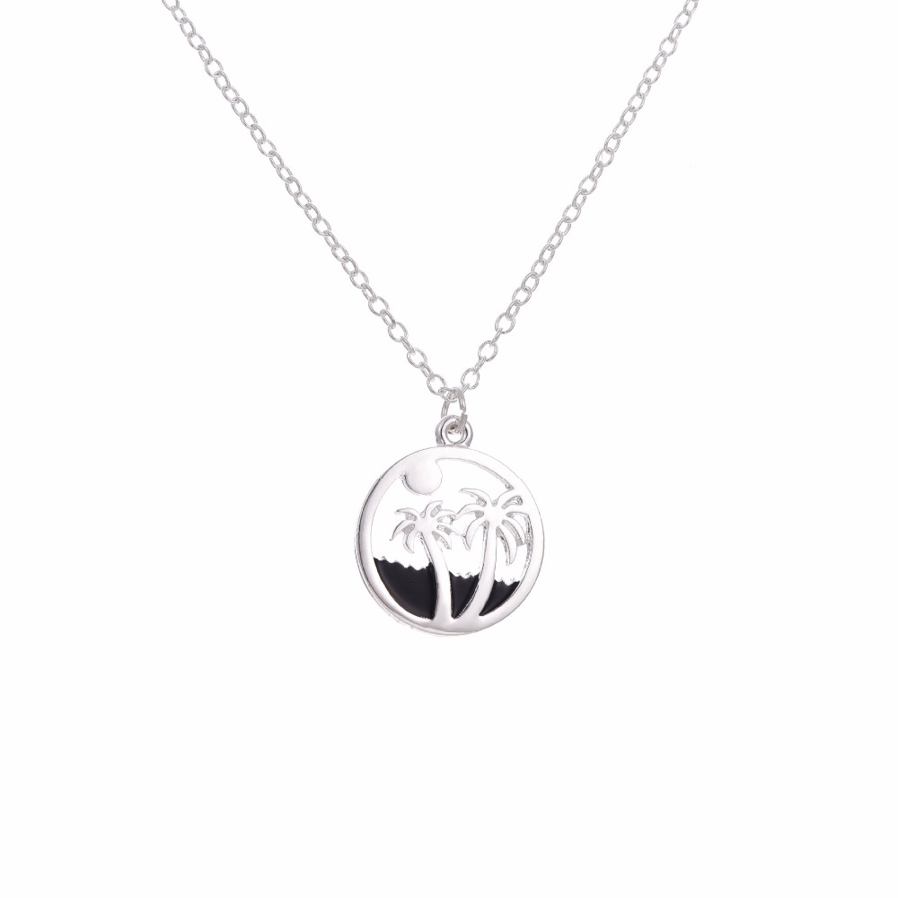 pendant moonlit beach