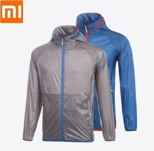 Image 1 - Xiaomi man Licht zonnebrandcrème huid jas sneldrogend Waterdicht top Outdoor zon kleding Sportkleding voor mannelijke