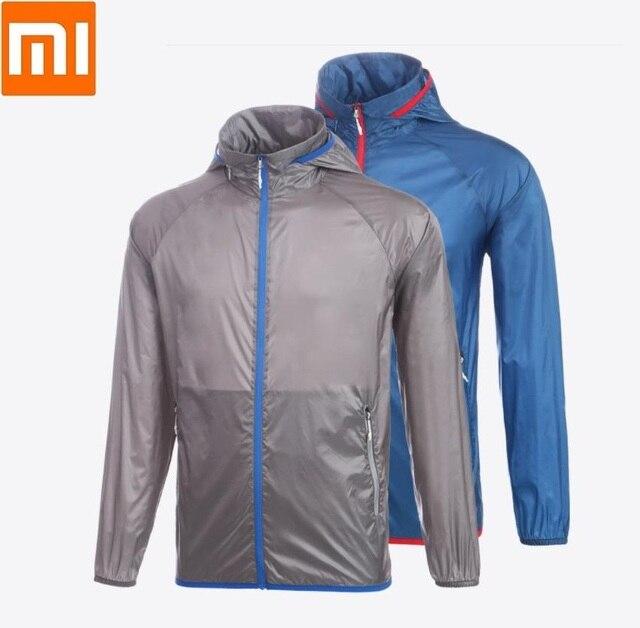 Xiaomi man Licht zonnebrandcrème huid jas sneldrogend Waterdicht top Outdoor zon kleding Sportkleding voor mannelijke