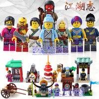 DR. TONG 8 шт./лот 1504 Новый Enlighten цифры один из Китая Романтика три царства цифры герои строительные блоки игрушки