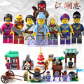 DR.TONG 8PCS/LOT 1504 New Enlighten Figures One of China Romance the Three Kingdoms Figures Heroes Building Blocks Toys