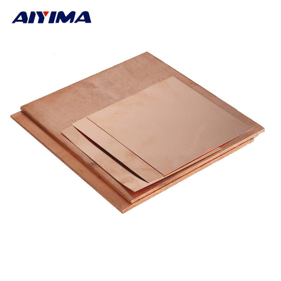 1pc 99.9% Copper Sheet Plate Pure Copper Cu Metal 50*50mm 100*100mm 150*150mm zinc alloy set height 200mm metal furniture cabinet legs tea table satin chair sofa leg feet 4pcs
