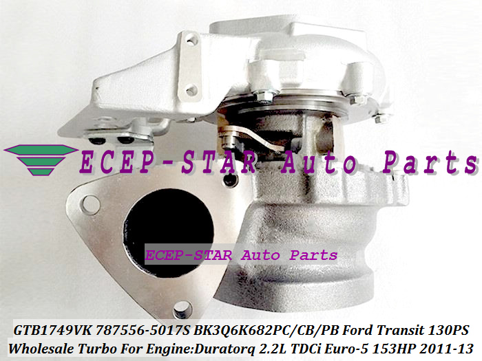 GTB1749VK 787556-5017S 787556-5016S 787556 1717628 BK3Q6K682PC BK3Q6K682CB Turbo For Ford Transit 130PS 11-13 Duratorq 2.2L TDCi