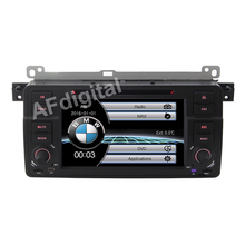 Factory Price 2 Din Car DVD Player for BMW E46 M3 With GPS Bluetooth Radio RDS USB IPOD Steering wheel control GPS 2016 Map Navi