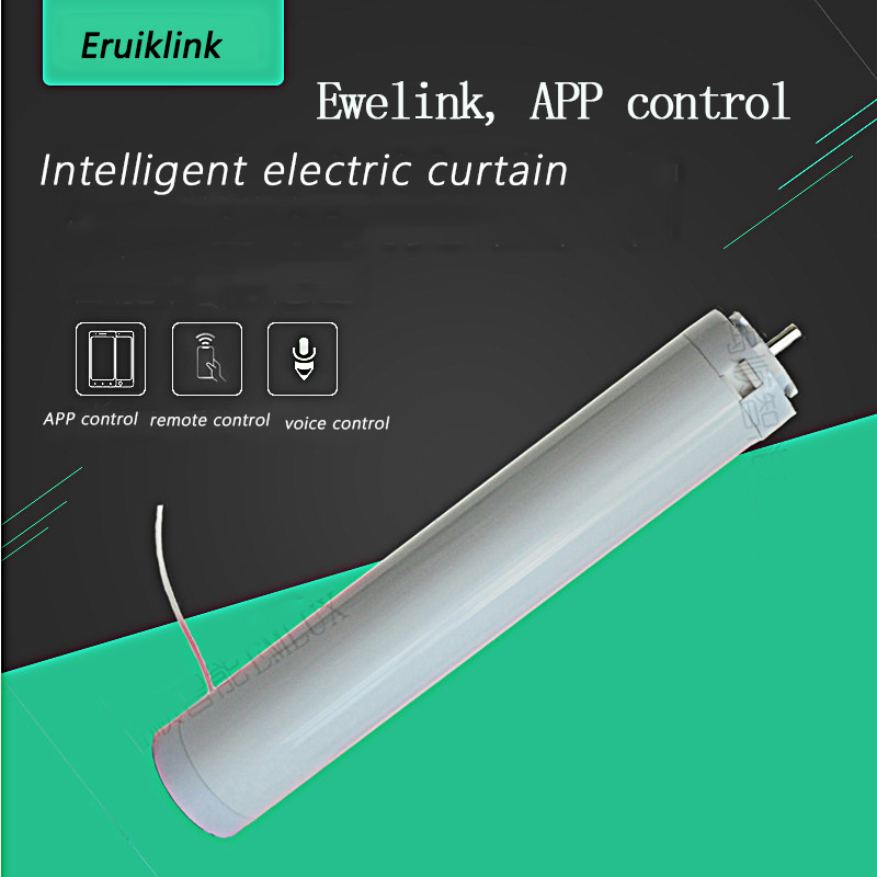 WIFI Electric Curtain Motor, Through The Ewelink App / Alexa Echo And  Remote Control  For Google Home For Smart Home, 110-240V