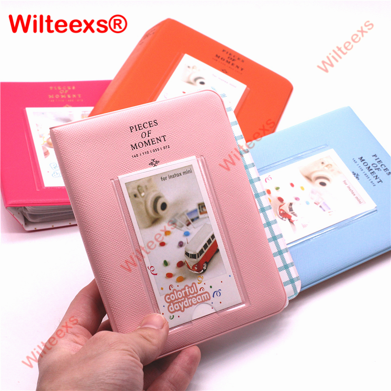 WILTEEXS 64 Pockets Fujifilm Instax Mini Films Instax Mini 8 7s 70 25 50s 90 Name Card Pieces Of Moment Photo Book Album 1