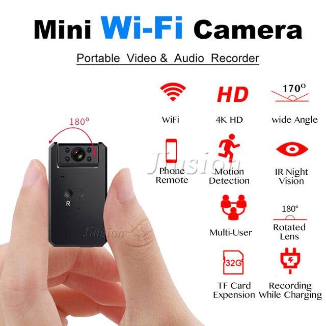 4 K WiFi Mini DV Câmera Sem Fio Preto HD 1080 P Sensor de Movimento Detecção de Infravermelho Night Vision Micro Cam Esporte bicicleta Filmadora Carro