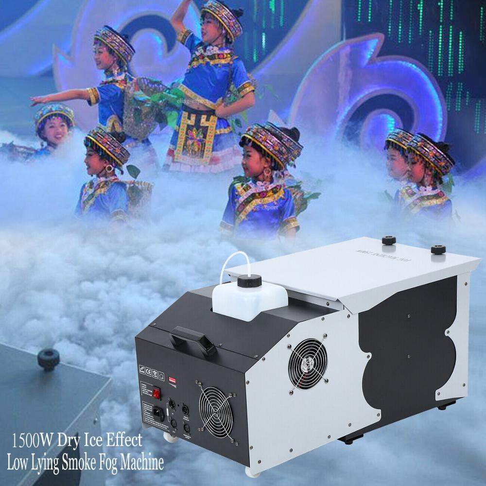 1500W עשן מכונת ערפל נמוך שוכב קרקע פולט חתונה המפלגה שלב דיסקו DJ בר