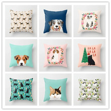 Cojines Decorativos Para Sofa Lovely Dog Throw Pillow Case Bed Cushion Cover Home Decor 45cm x