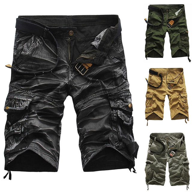 f640087e7b Mens Casual Cargo Cotton Shorts Outdoor Camouflage Camo Military Army  Tactical Short Pants SportsWear Hiking Camping Hunting