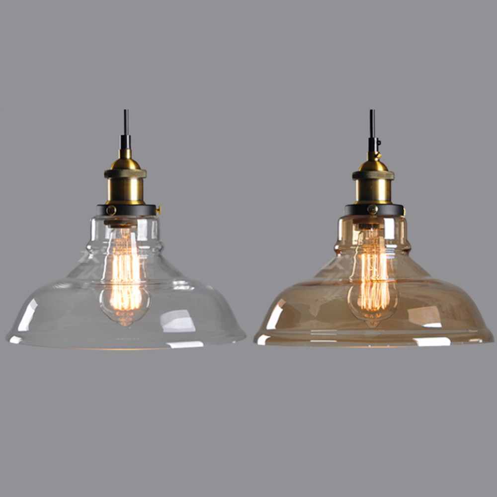 Clear Glass Shade Ceiling Vintage Retro Chandelier Fitting Edison Pendant  Lamp Light(China (Mainland - Compare Prices On Glass Ceiling Shade- Online Shopping/Buy Low