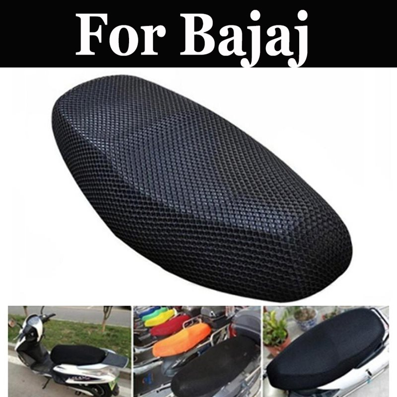 51x86 Mesh Motorcycle Seat Cover Breathable Sun-Proof Motorbike For Bajaj Avenger 220 Dts-I Discover 100 125 150 Platina 100 Cc
