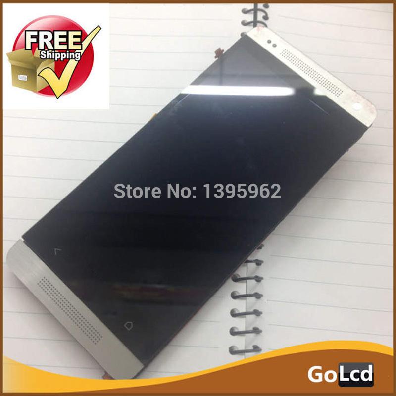 Prix pour Blanc LCD Affichage Écran Assemblely Cadre Pour HTC One MINI M4 601e 601n bouton au bas de l'écran s'allume pas Livraison le bateau, 1 pcs
