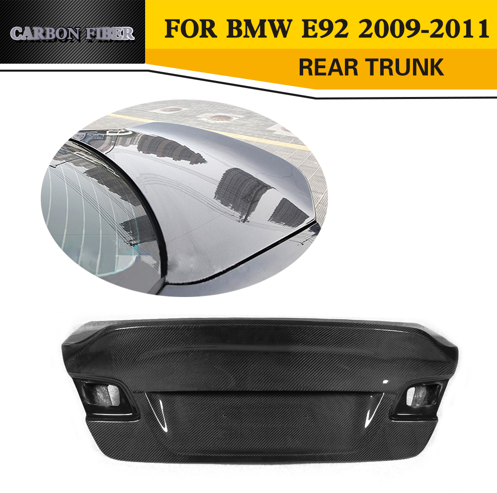 3 Series Carbon Fiber Racing Rear Trunk for BMW E92 E92 Standard Coupe 2 Door Only 2009 2010 2011 325i 335i V Style