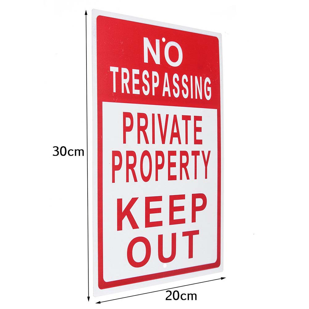 US $6 12 41% OFF|Useful 8x12 Metal No Trespassing Sign Private Property  Keep Out Do Not Enter Aluminum Signs for Outdoor AU03-in Plaques & Signs  from