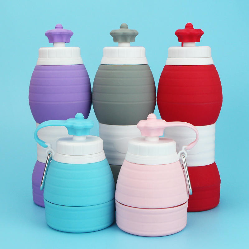 Folding Silicone Portable Silicone Telescopic Drinking Collapsible Coffee cup multi-function Travel Cups Outdoors High