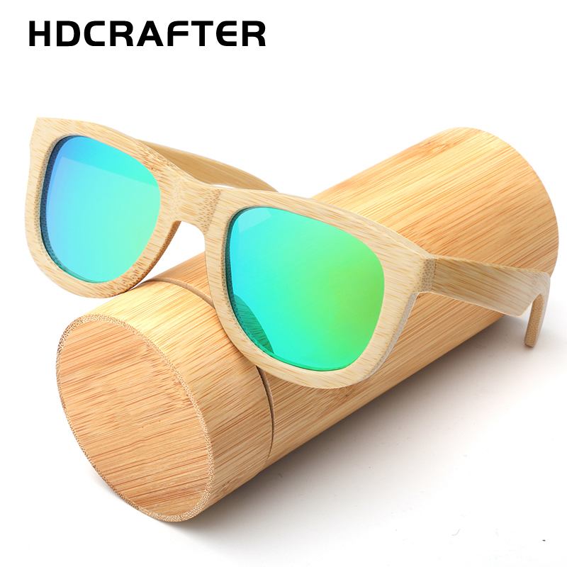 2017 HDCRAFTER New font b fashion b font Sunglasses 100 Bamboo Frame Sun glasses Retro Vintage