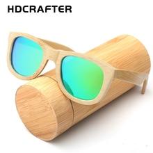 2017 HDCRAFTER New fashion Sunglasses 100% Bamboo Frame Sun glasses Retro Vintage TAC Lens Wooden Frame Handmade Eyewear