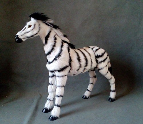 simulation cute zebra 43x49cm model polyethylene&furs horse model home decoration props ,model gift d448 casio sheen she 3512d 7a