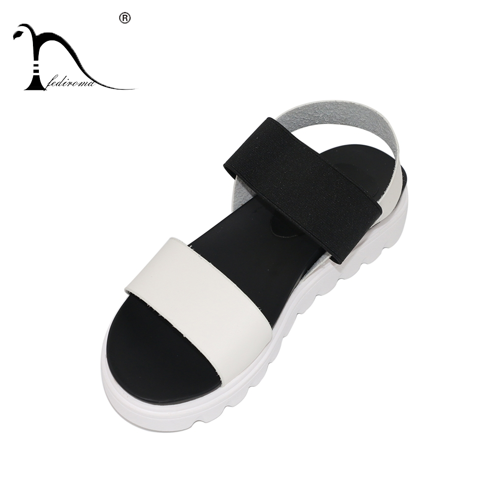 FEDIROMA Summer shoes woman sandals women peep-toe flat Shoes Roman sandals Women Genuine Leather sandals mujer sandalias sandals women genuine leather lace up ankle wrap 2017 summer shoes woman gladiator sandal flat wedding shoes sandalias mujer