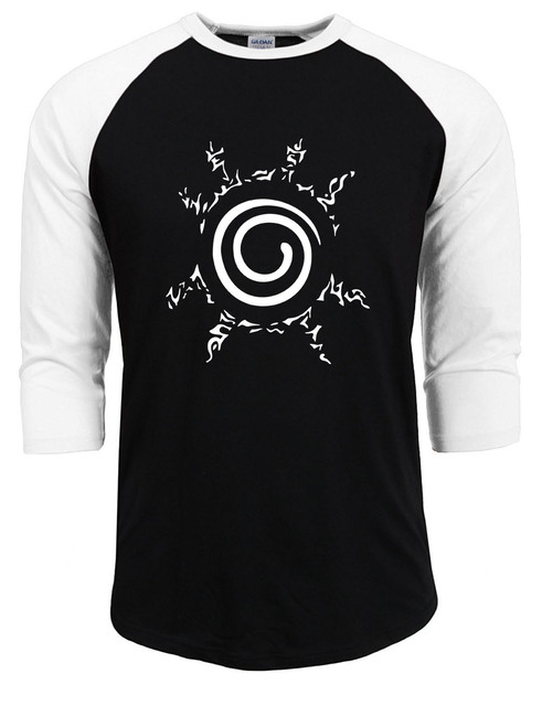 00c334b5a Anime t shirts uzumaki naruto summer autumn 100% cotton clothing
