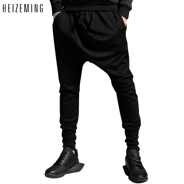 2016 Real Loose New Hip Hop Harem Pants Mens Joggers Autumn And Winter Drawstring Men Casual Comfortable Breathable Trousers