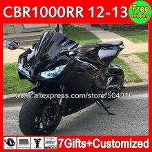 Обтекатель Для HONDA CBR 1000RR 1000 RR 12 13 Черный 41C0 Инъекции CBR1000 RR Глянцевый черный 2012 2013 CBR1000RR 12-13 + пропуск