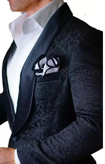2018 Brand Black Mens Floral Blazer Designs Mens Paisley
