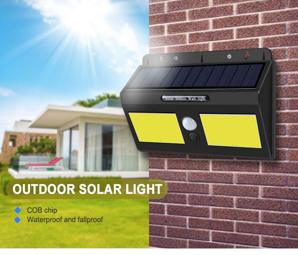 Outdoor LED Solar Light Waterproof Decoration Motion Sensor Solar Lights for Garden ABS COB Outdoor Solar Lighting Wall Street (1)
