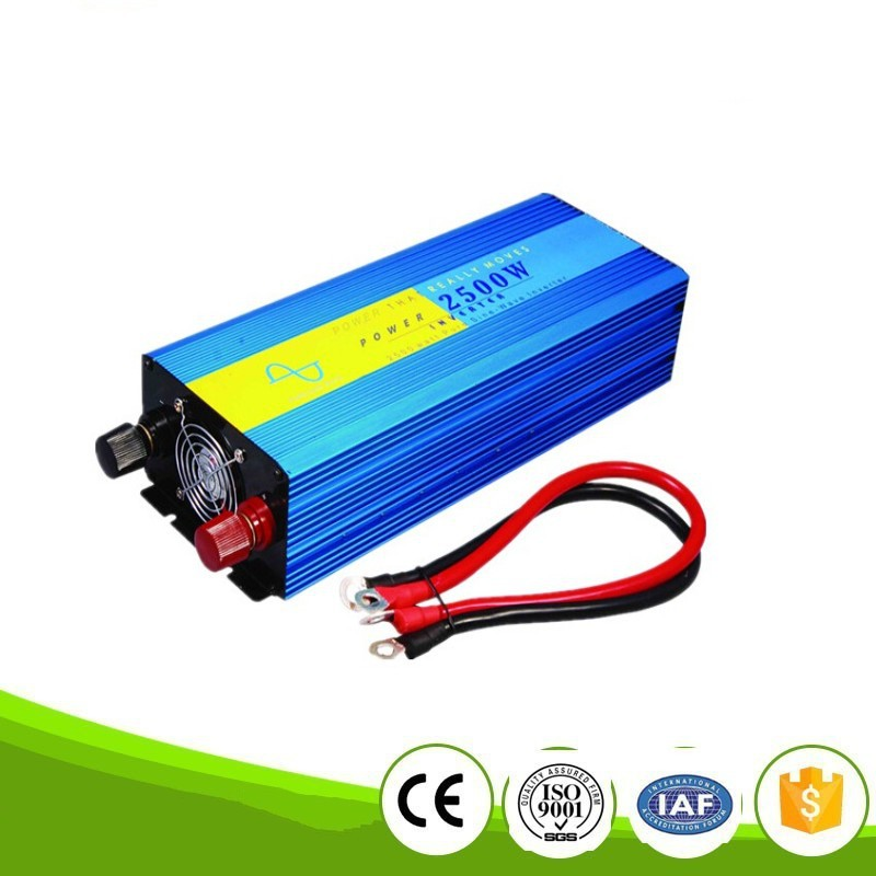 free shipping digital display 2500W Pure Sine Wave Power Inverter Converter 12V DC to 220V AC 5000 Watt Peak
