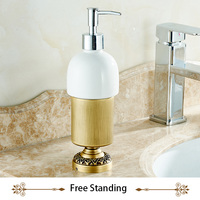 Kitchen Bathroom Liquid Hand Soap Ceramic Dispenser Pump Bottle For Lotion Essential Oils Wall Mounted Or