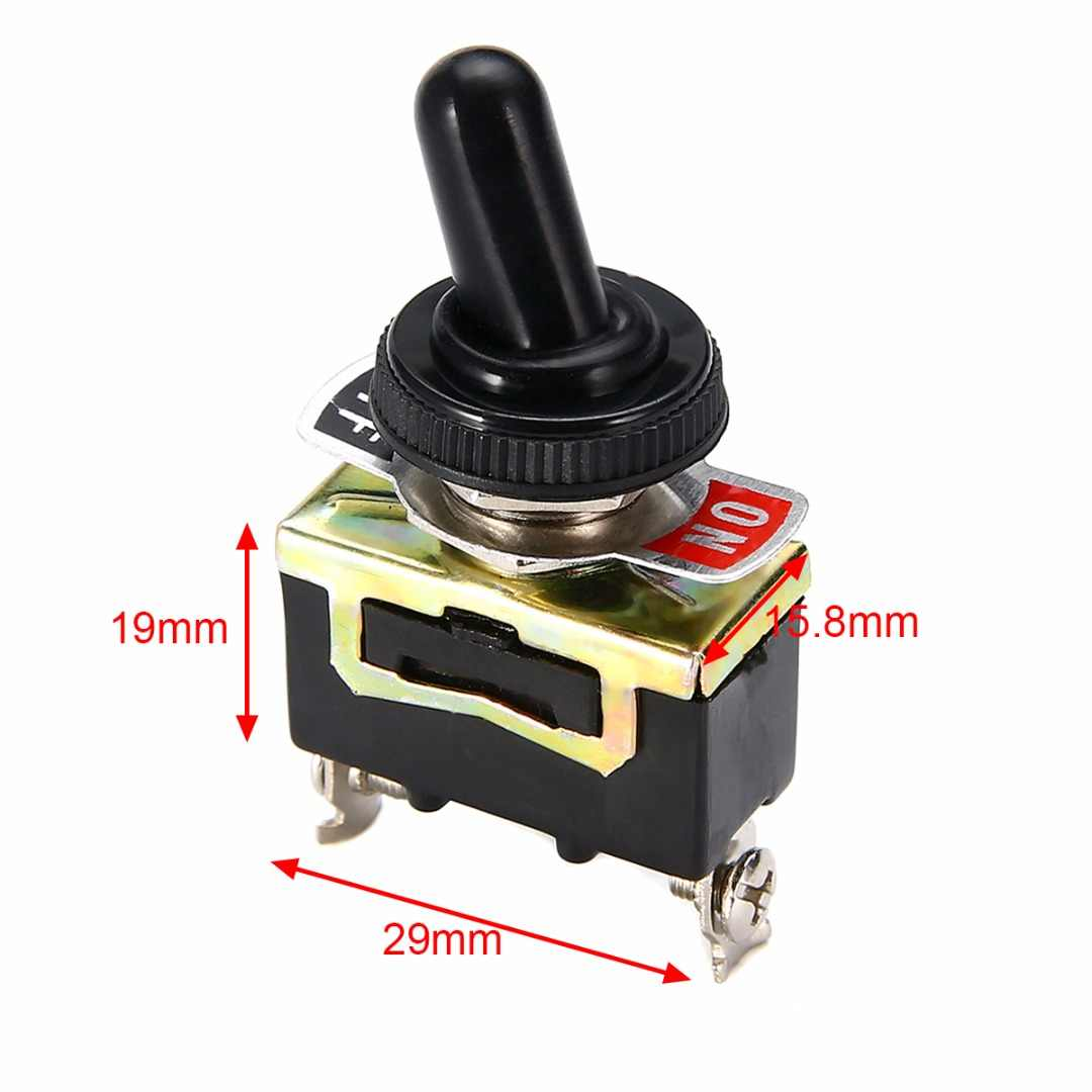 Detail Feedback Questions About 2pcs Ac 250v 15a Amps On Off Toggle Switches Switch 20 Amp Screw Terminal Spst Onoff 1pc Miniature Metal With Waterproof Cover 12v 29x158x19mm