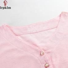 Thin Plus Size XXL-5XL Lounge Pink Women Cotton New Summer and Autumn Female Sleepshirt SY488