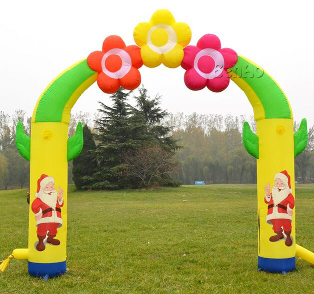 ФОТО x159 christmas inflatable gift inflatable christmas decoration christmas welcome arches inflatable christmas decoration outside
