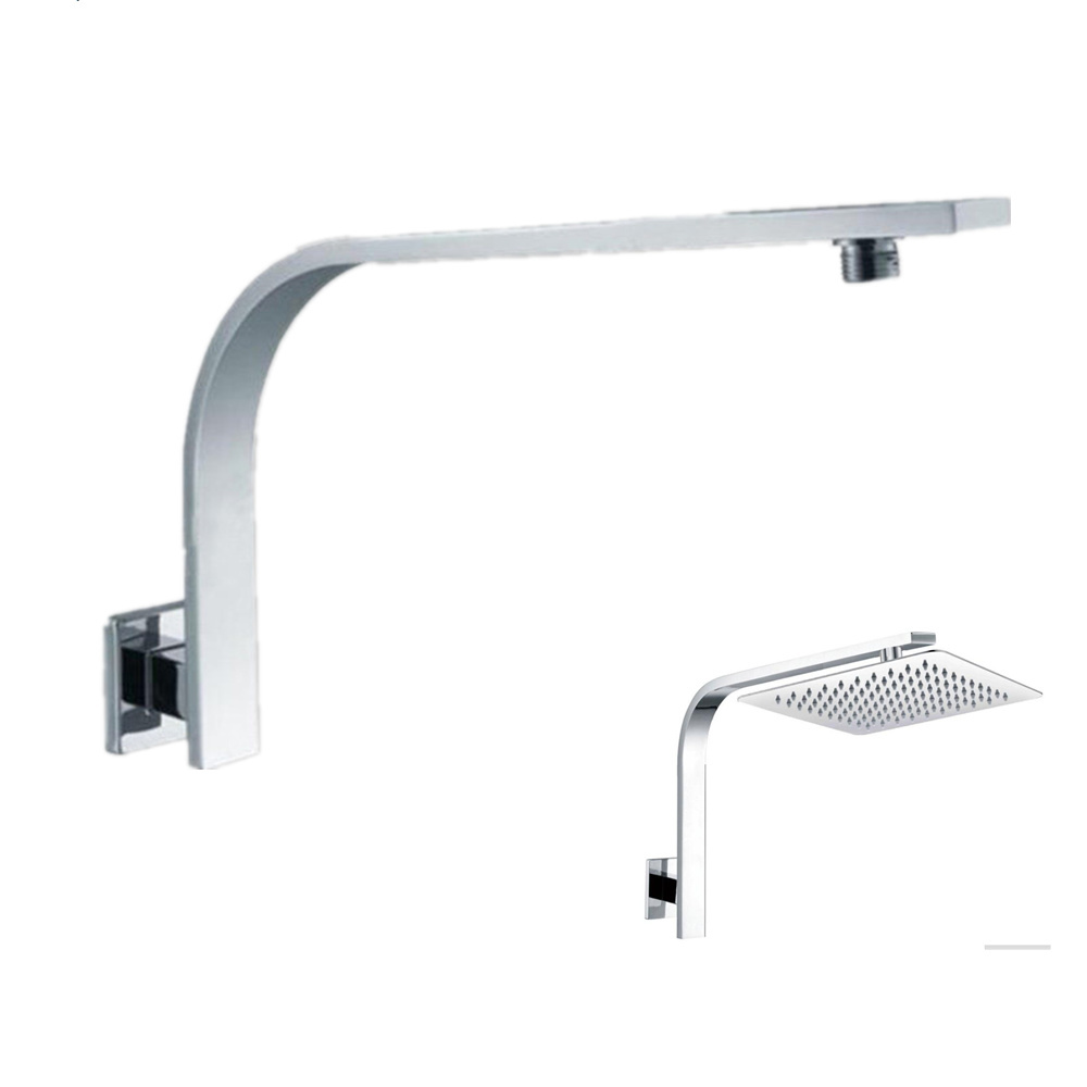 Bathroom Wall Mounted GOOSENECK Style Rain Shower Arm Chrome Shower Connecting Pipe Shower Head Holder Free Shipping