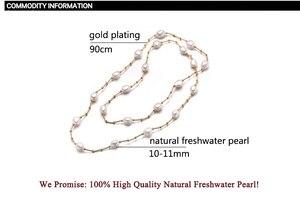 Image 5 - ZHBORUINI Hochwertige Mode Lange Perlenkette Barock Natürliche Süßwasserperle Schmuck Für Frauen Halskette Zubehör