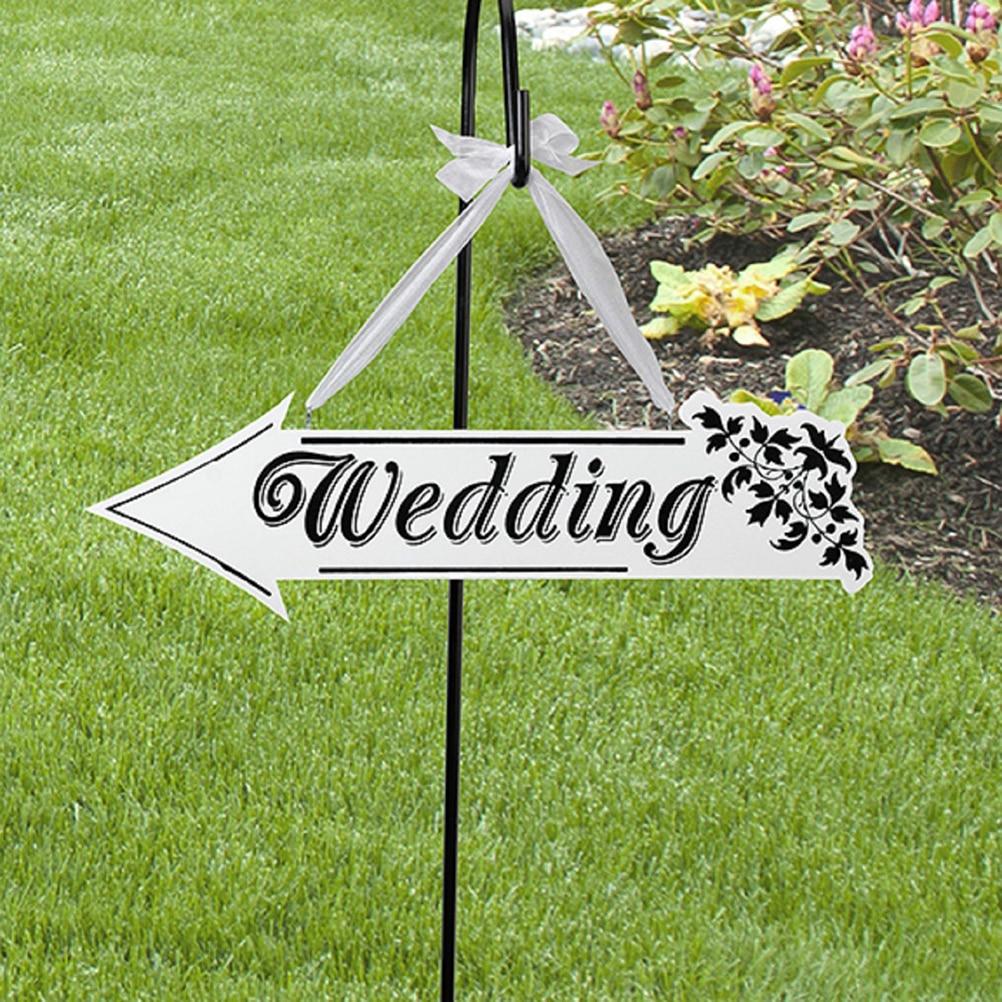 Wedding Sign White Wooden Wedding Direction Arrow Sign